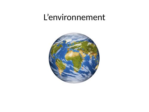 L'environnement - To accompany AQA GCSE 7.1