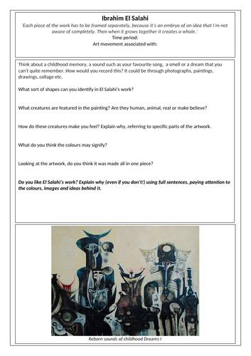 Ibrahim el-Salahi Artist Research Task