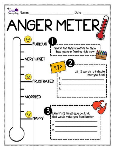 Anger Management Worksheets | Teaching Resources