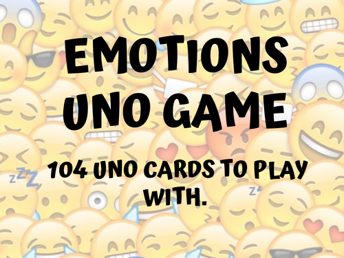 UNO Emotions Game with Emojis