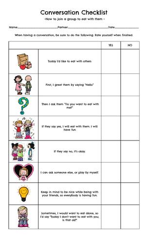 Special Ed - Conversation Checklist