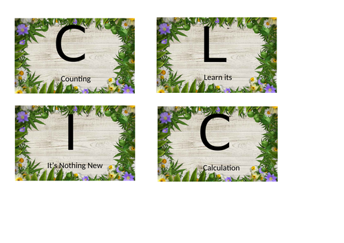 BIG MATHS CLIC Display Lettering