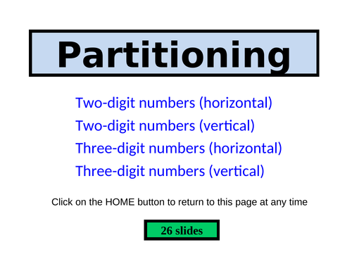 Partitioning PowerPoint - 26 slides