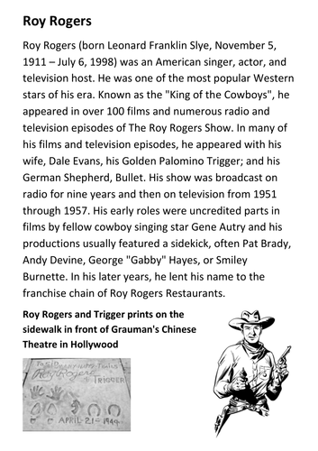 Roy Rogers Handout
