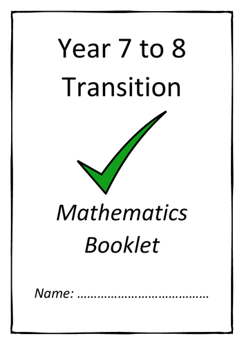 Year 7 to 8 Transition Booklet