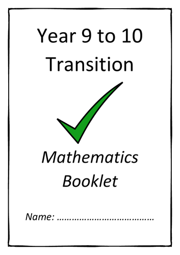 Year 9 to 10 Transition Booklet