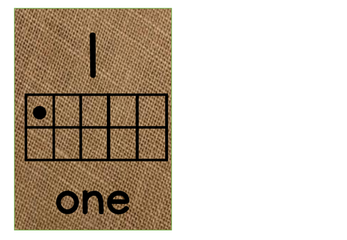 numbers 1-10 in hessian with ten frames