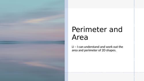 KS2 - PERIMETER & AREA PPT.