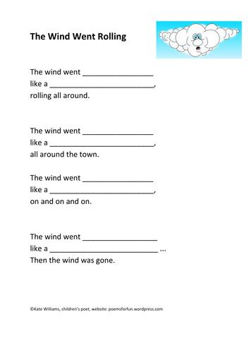 Wind Poem Frame + Examples
