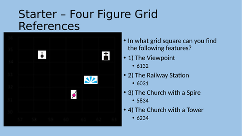 How to locate six figure grid references