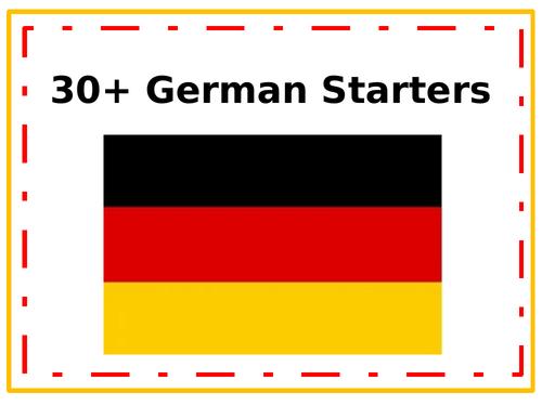 German starter activities