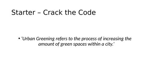 AQA GCSE Urban Greening