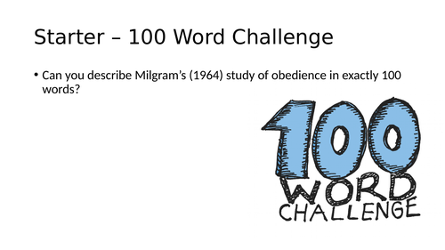 Evaluating Milgram's (1964) Study of Obedience (OCR A-Level)