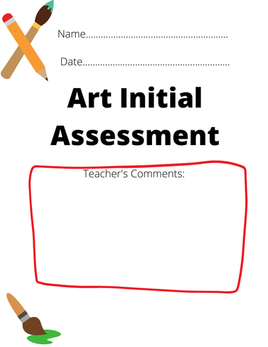 Art Initial Assessment (Special Needs) with observations tick sheet