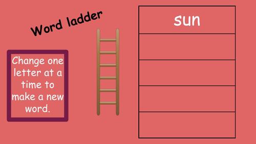 Editable Word Ladders