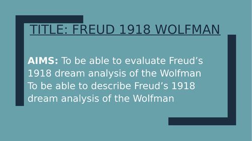 Psychology GCSE OCR- Freud's Wolfman Study