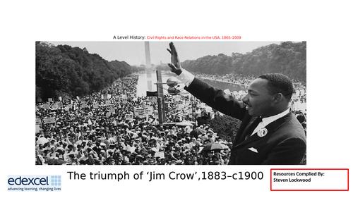 A-Level History: Civil Rights 8 - Booker T. Washington 1883-1900