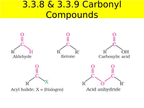 AQA A-level Carbonyl Compounds