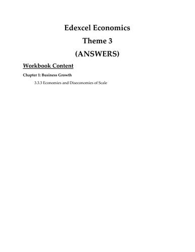 Edexcel Economics Theme 3.  3.3.3 Economies & Dis-economies of Scale