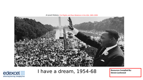 A-Level History: Civil Rights 14 - MLK and I Have Dream 1960s