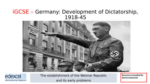 GCSE History: 2. Germany - New Republic and Treaty of Versailles 1919