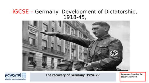 GCSE History: 5. Germany - The Work of Stresemann 1924-29