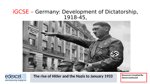 GCSE History: 12. Germany - How Hitler became Chancellor of Germany 1933