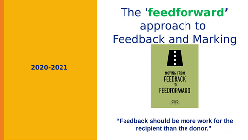 Marking and Feedback CPD training