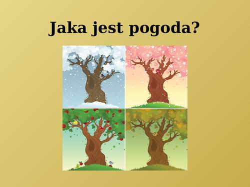 Pogoda (Weather in Polish) PowerPoint