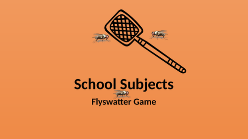 School Subjects Flyswatter