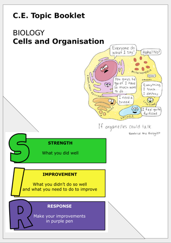 Cells topic boooklet