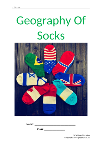 Geography Of Socks - Cotton