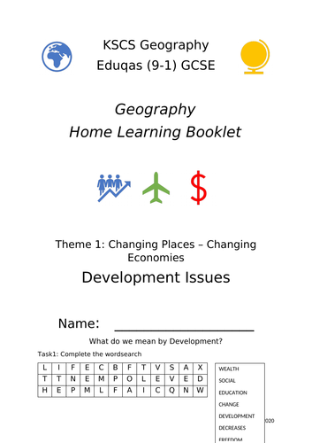 Development Issues Home Learning Booklet