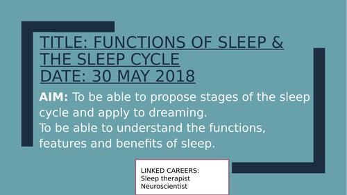 Psychology GCSE OCR- Sleep and dreaming bundle