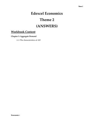 Edexcel Economics Theme 2: 2.2.1 The Characteristics of AD