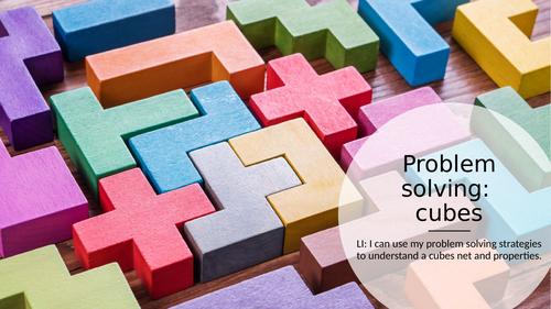 KS2 Problem solving Rubiks cube & nets lesson ppt.