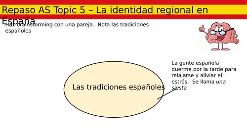 AS Revision - Topic 5 - La identidad regional en España