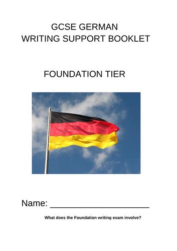 Foundation GCSE German Writing booklet