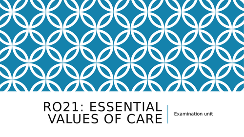 Health and Social Care RO21 LO1 Lessons