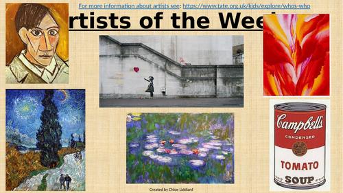 Artist of the Week Slides