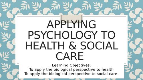 Health & social care: Biopsychology