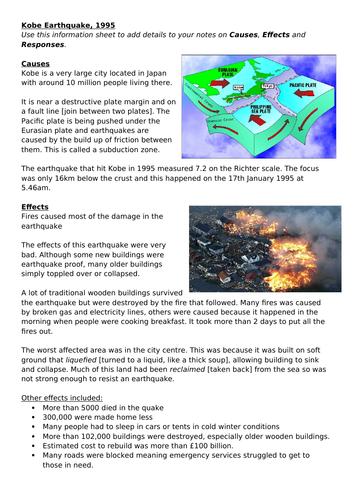 Kobe Earthquake - Including assessment - 2 lessons (KS3 Geography)