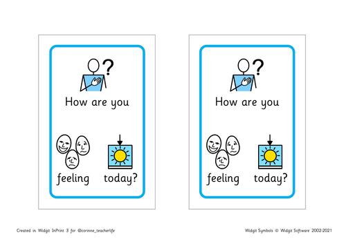 Tolsby frame check in - widgit emotion symbols