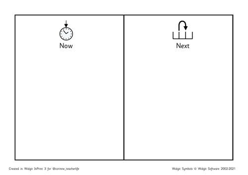 Now and next - home with widgit symbols