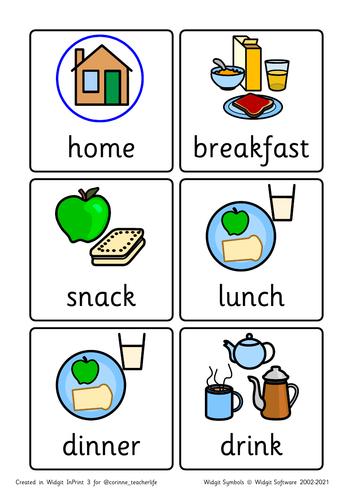 Visual timetable -widgit symbols