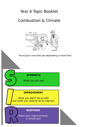 combustion & climate change topic booklet