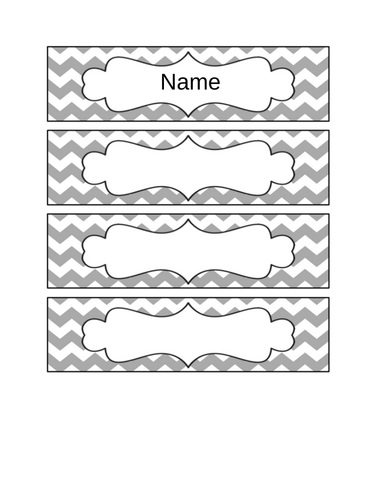 Drawer labels grey and white natural