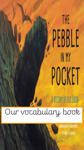 The Pebble in my Pocket vocabulary book