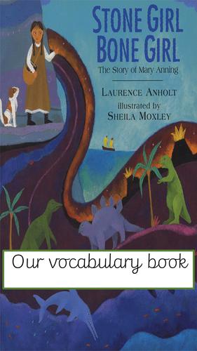 Stone Girl Bone Girl Vocabulary book