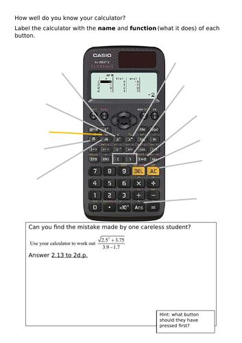 Casio fx-85GTX: Do you know your calculator?